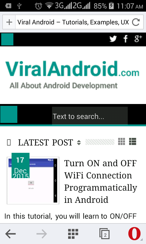 How to Open a URL in Android Browser from Application | Viral