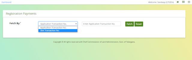 registration payments online telangana dharani portal