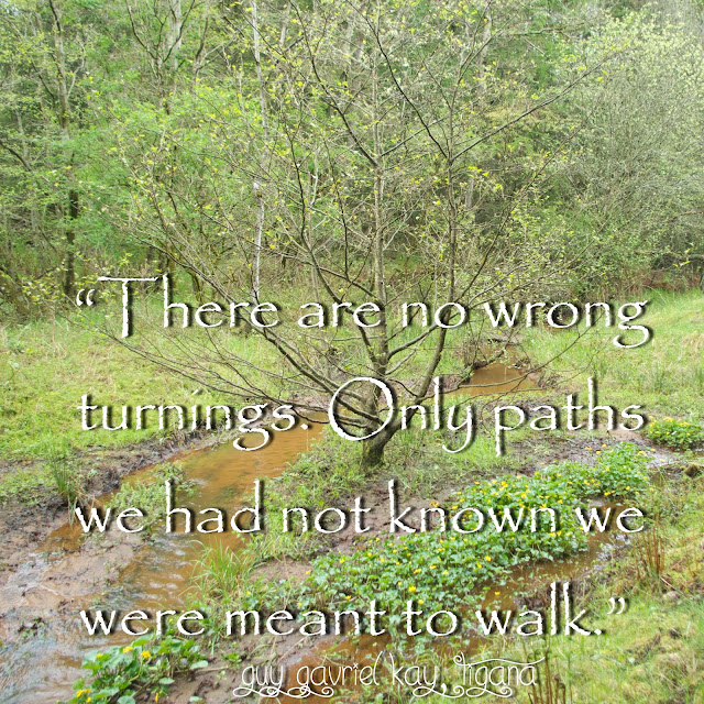 There are no wrong turnings. Only paths we had not know we were meant to walk.  - Guy Gavriel Kay