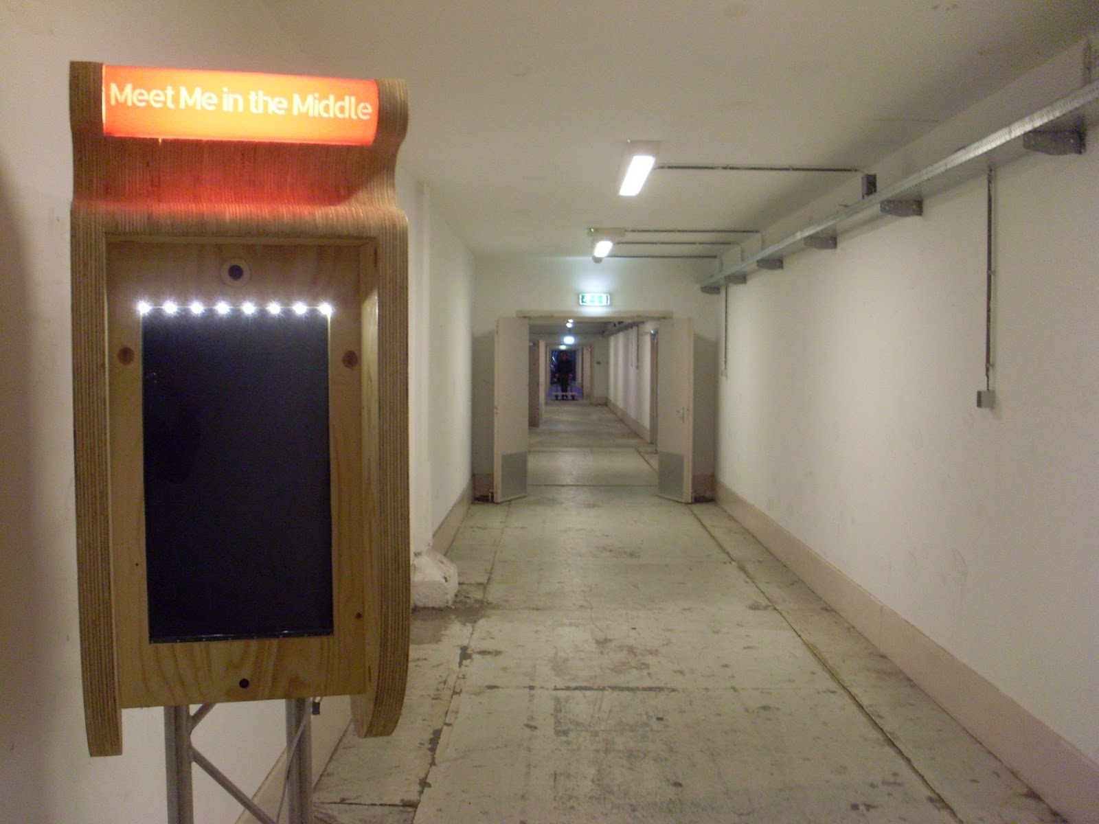 An odd device in the corridor