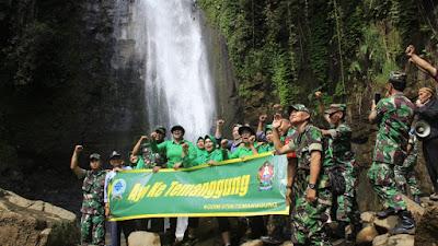 Kunjungan Dandim 0706/TMG Ke Jajaran Dan Wisata Curug Surodipo Wilayah Koramil 07/Tretep