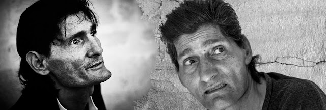 Antonio Agujeta en dos intantáneas cercanas en el tiempo