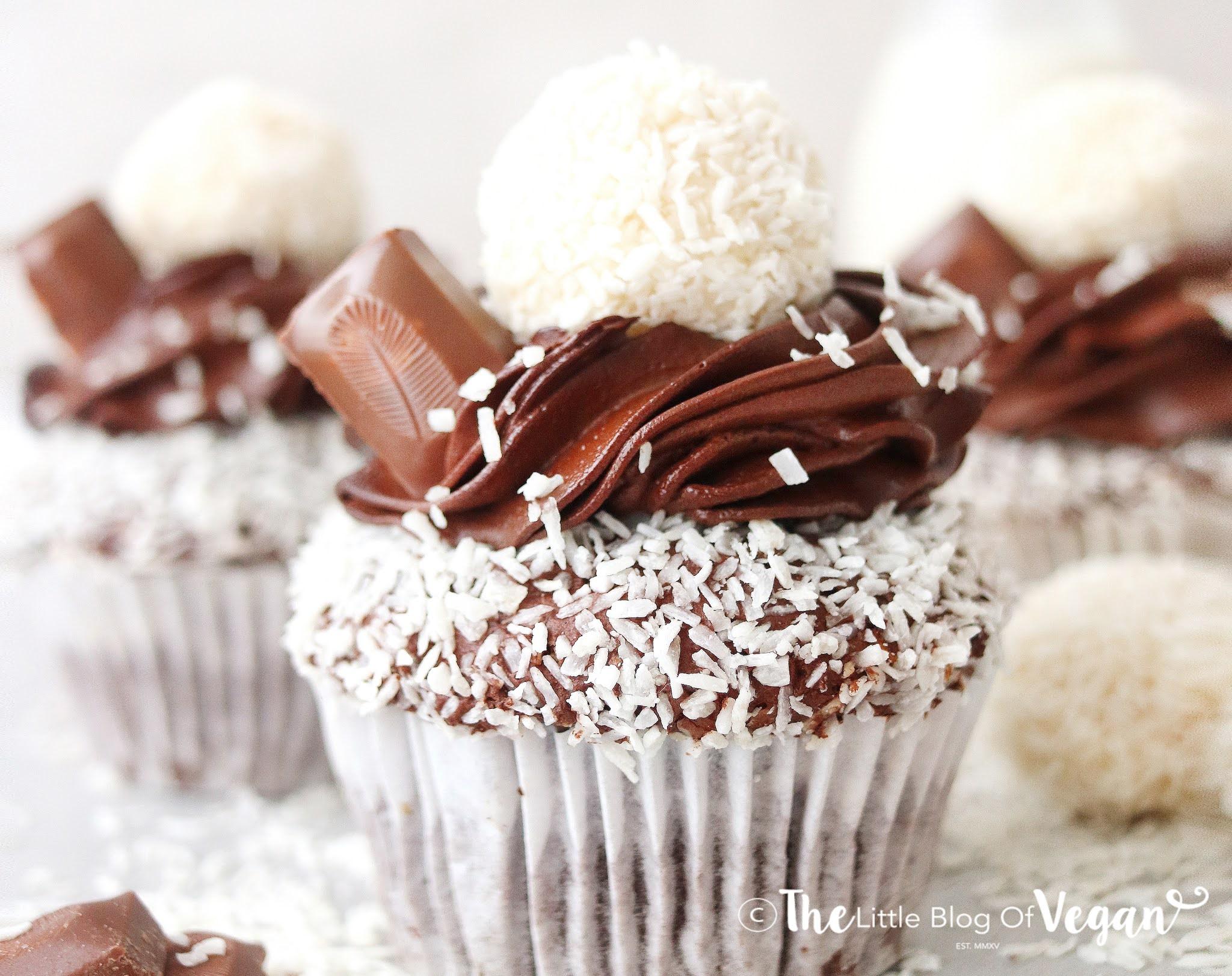 Vegan Bounty Cupcakes