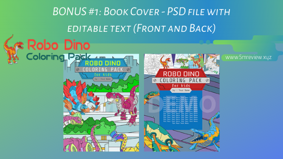 Robo Dino Coloring Pack PLR Review  - 30 Studio-Quality Premium Robot Dinosaurs Coloring Pack for Kids