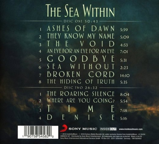 THE SEA WITHIN - The Sea Within [Special Edition 2CD Digipak] (2018) back