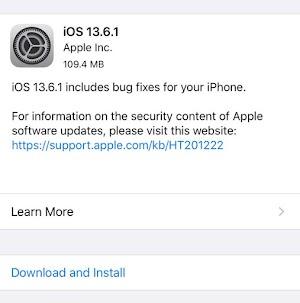 إطلاق تحديث iOS 13.6.1 من ابل الايفون - إصلاح مشكل الشاشة الخضراء