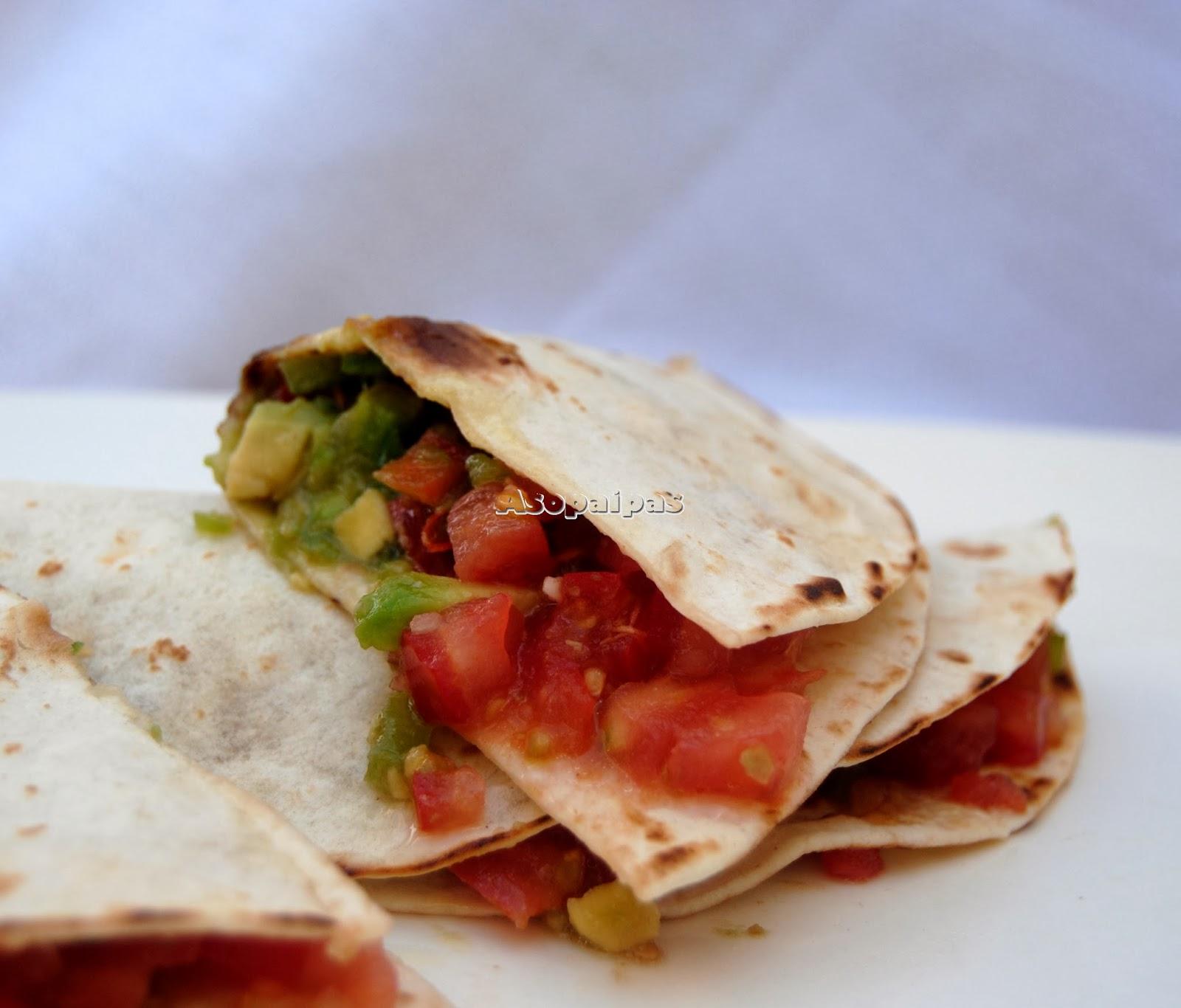 Tacos con Aguacates y Verduras.