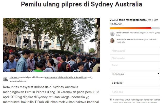Kisruh Pemungutan Suara, Petisi Pemilu Ulang Sydney Sudah Diteken 20 Ribu Lebih