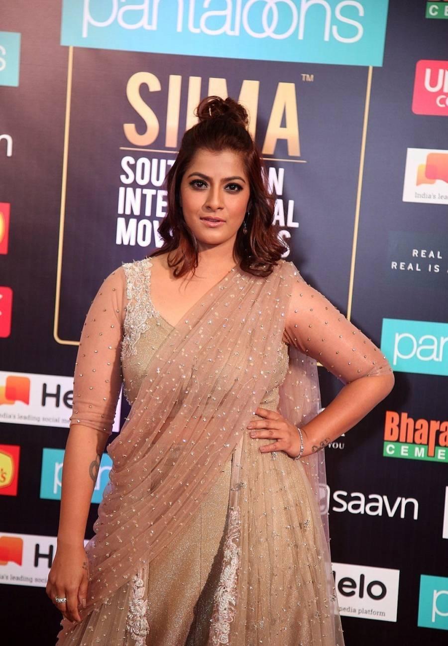 South Indian Actress Varalaxmi Sarathkumar at SIIMA Awards 2019