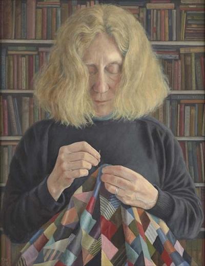 by Paula Wilson | imagenes de pinturas bonitas, mujer cociendo,