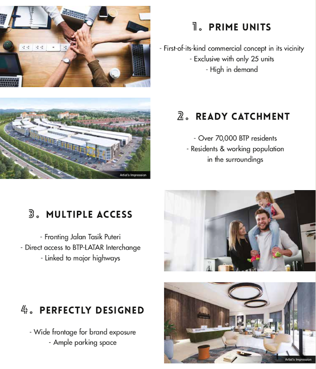 Some key features of Avenue 3 Medan Puteri
