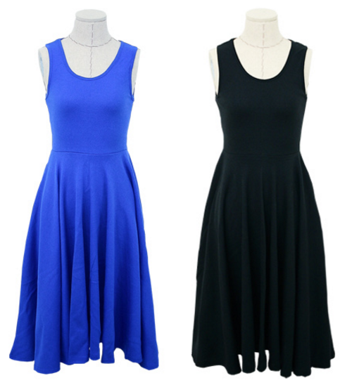 Basic Flared Dress