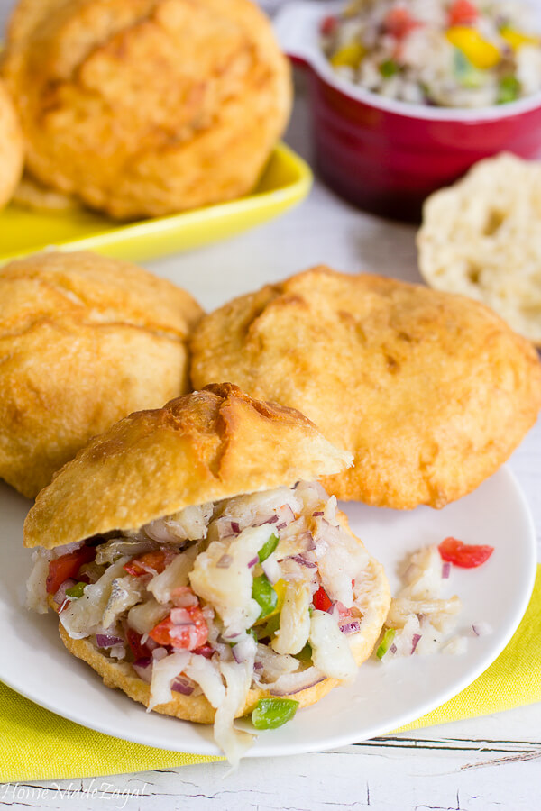 Bake and Saltfish Buljol Recipe
