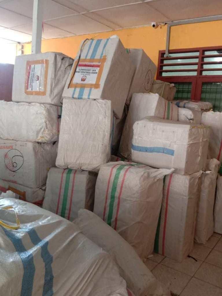 KPU Labuhanbatu Menerima Bantuan Alat Pelindung Diri Dari KPU Pusat