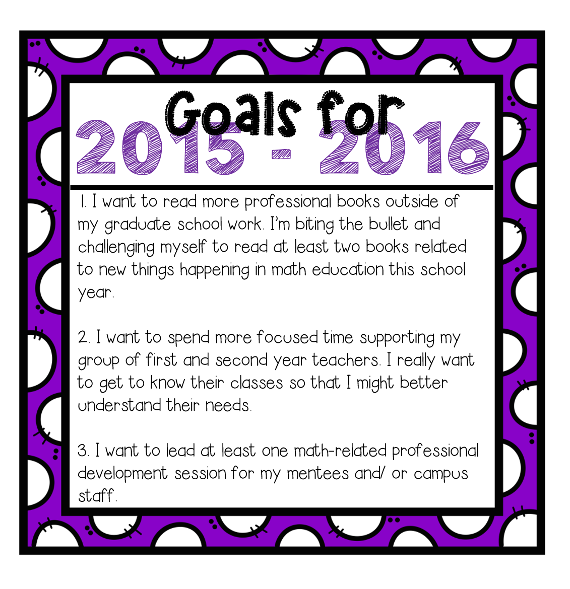 math rocks mission 3 goal setting because my role this year is not as a classroom teacher my goals are more related to my professional growth and work as a mentor teacher