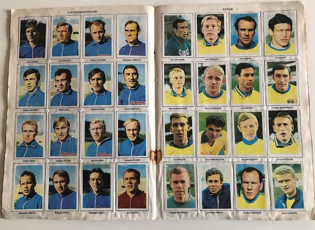 Figurine Svezia Album Vanderhout Messico 70
