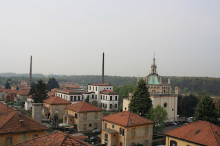 A view over the rooftops of Crespi d'Adda
