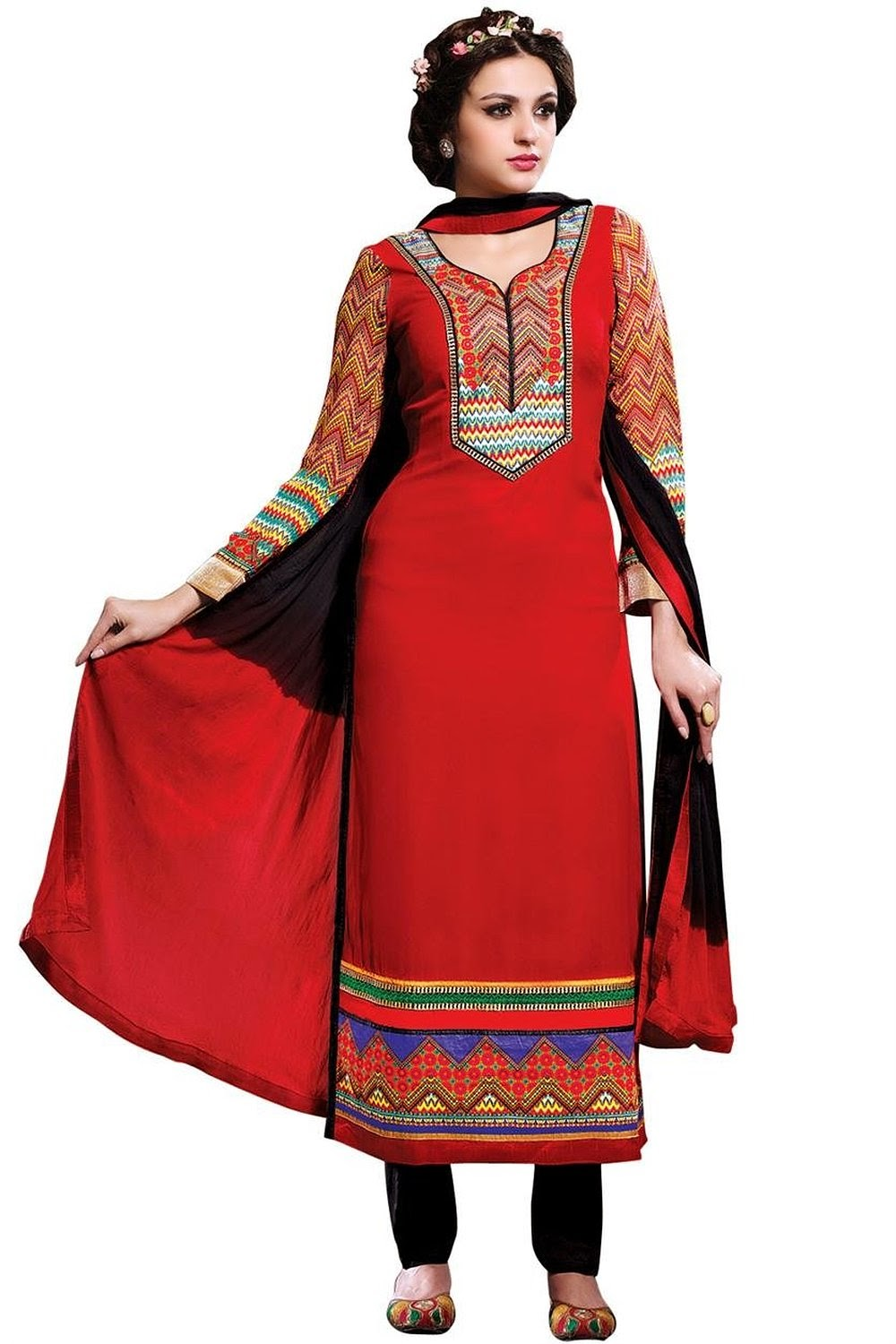 dd23bd817e80a Where to Find Great Discount on Cotton Printed Casual Party Wear Salwar Suit