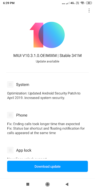 Redmi Note 5 Pro Update MIUI V10.3.1.0.OEIMIXM | Fix: App lock| Home Screen | Recent | Mi Cloud