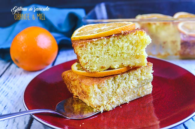 gateau semoule orange miel