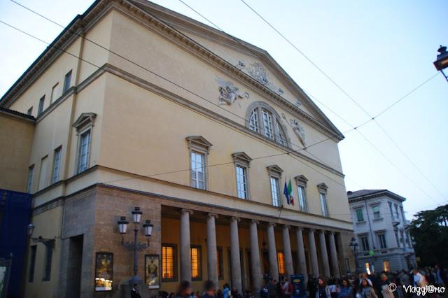 Facciata del Teatro Regio di Parma, uno dei teatri più importanti d'Italia