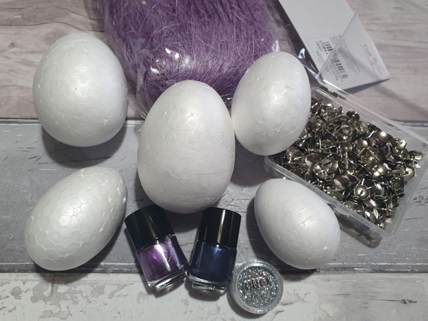 Materials needed to make Dragon Eggs