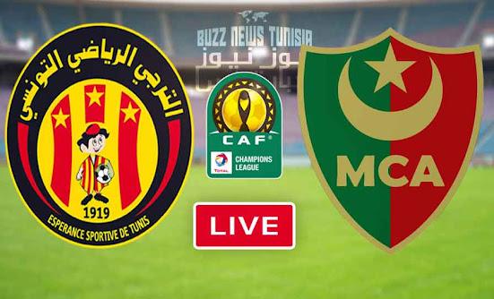 Match Esperance de Tunis vs Mouloudia Alger Live Streaming