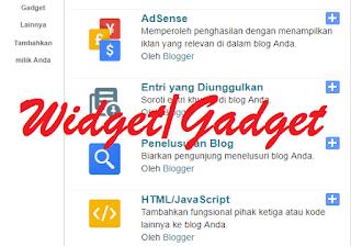 Menambahkan dan memasang widget pada blog