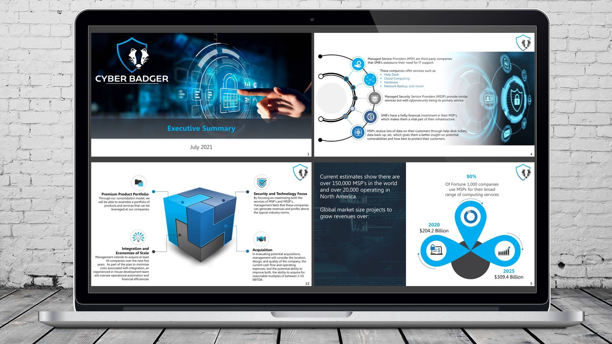Cyber security executive summary PowerPoint presentation of a US leading managed security service provider.