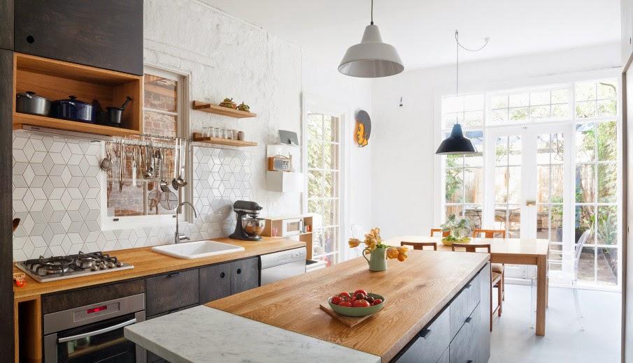 kitchen design jobs hand towels for the 我們看到了 我們是生活 家 明亮的廚房 白色的瓷磚頗具特色 澳洲 澳洲hearth室內設計工作室