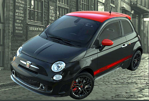 Fiat 500 Abarth with Roof Top Package