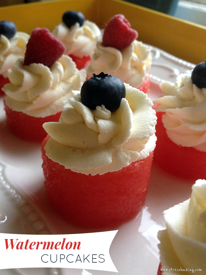 The Perfect Summer Dessert: Watermelon Cupcakes | Stress ...