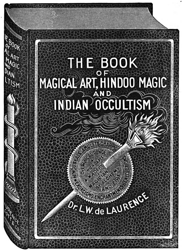 Magic spell book black