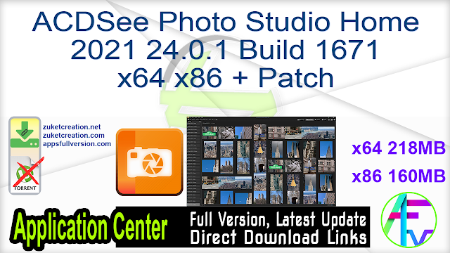 ACDSee Photo Studio Home 2021 24.0.1 Build 1671 x64 x86 + Patch