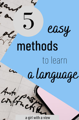 languages on paper with text on how to start learning a language
