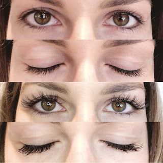Lash Extension Before and After