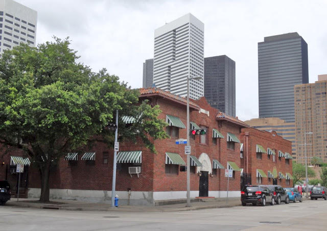 Austin Street at Bell - with Downtown Skyline