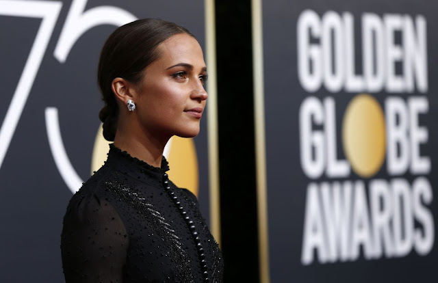 Alicia Vikander at 75Th Annual Golden Globe Awards In Beverly Hills