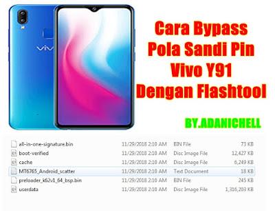 Cara Bypass Pola Sandi Pin Vivo Y91 Dengan Flashtool