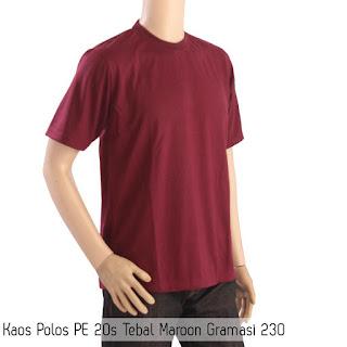 Beli Kaos Polos Bahan Polyester Terpercaya di Kota Pinang