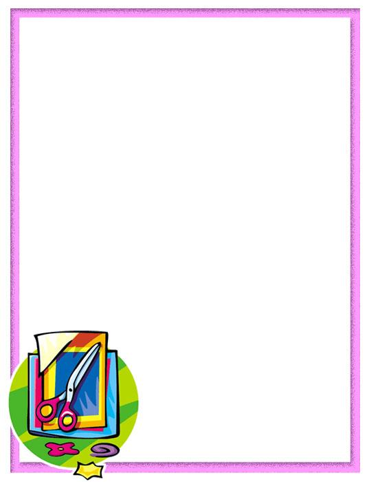 Bordes decorativos bordes decorativos de material escolar for Bordes creativos