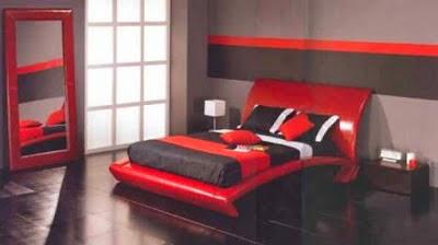 Habitaciones en blanco rojo y negro ideas para decorar - Dormitorio negro y rojo ...