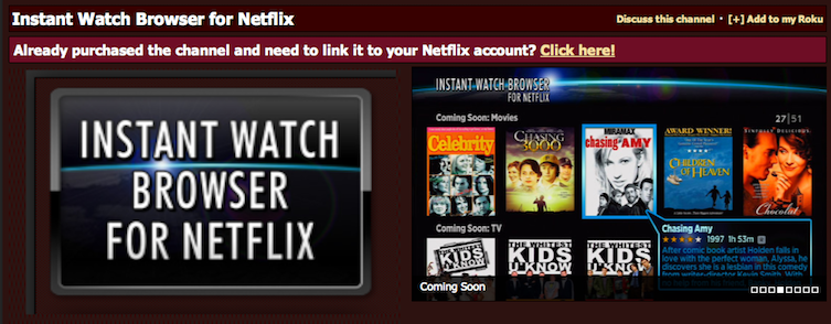 Intant Watch Browser for Netflix