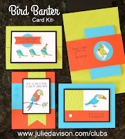 Stampin' Up! Bird Banter Card Kit ~ 2018 Ocassions Catalog ~ May Stamp of the Month Club ~ created by Julie Davison ~ www.juliedavison.com/clubs