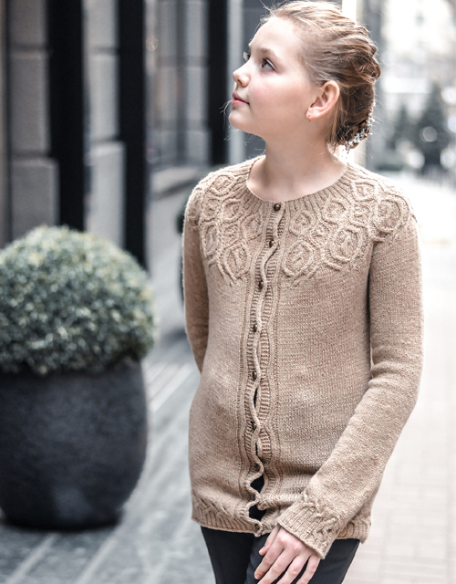 Fanciful Flower Cardigan - Knitting Pattern