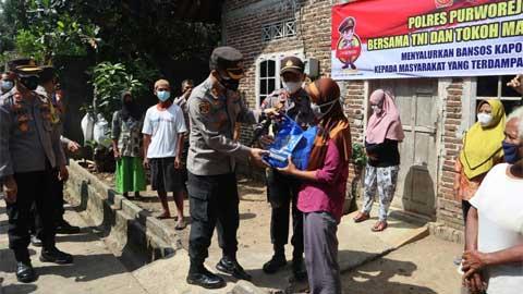 Polres Purworejo Serahkan Bantuan Sembako untuk Warga Mranti