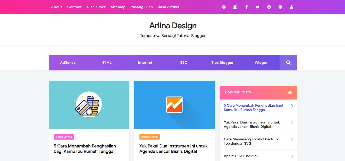 Arlina design blogger template free