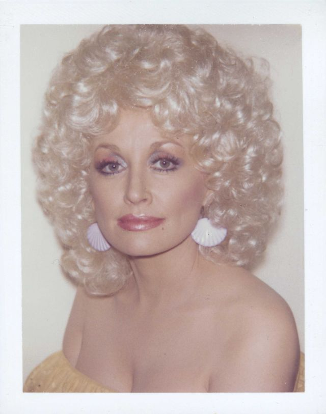 Amazing Polaroids of Dolly Parton Taken by Andy Warhol, 1985