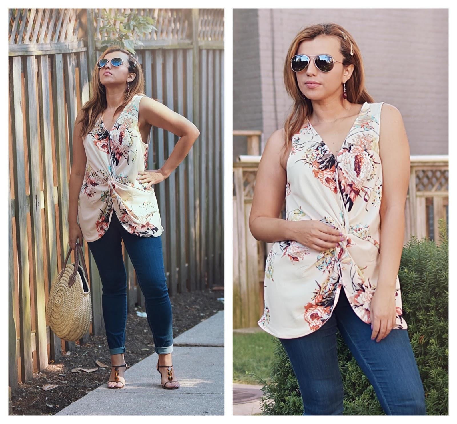 Twist-Front Sleeveless Floral Top-MariEstilo-lookbookstore-dcblogger-modaelsalvador-fashionblog-armandhugon-