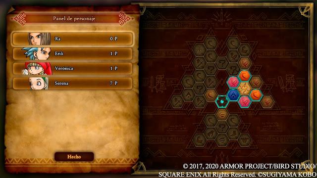 Mapeado de habilidades Panel de personaje Análisis de Dragon Quest XI S Ecos de un pasado perdido